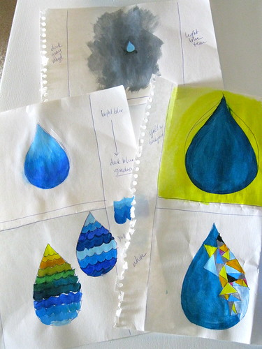 rough drafts of water drop painting