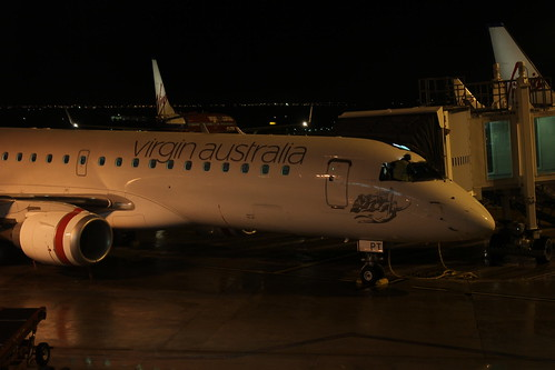 Virgin Plane at Melbourne Airport by holidaypointau