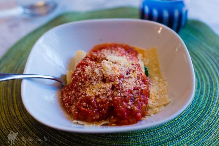 No Bake Lasagna with Fresh San Marzano Tomato Sauce