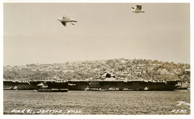 Queen Anne Hill and Aircraft Carriers, c1946