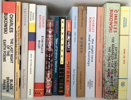 Bukowski bookshelf