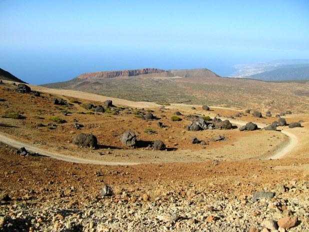 Recorrido para subir al Teide