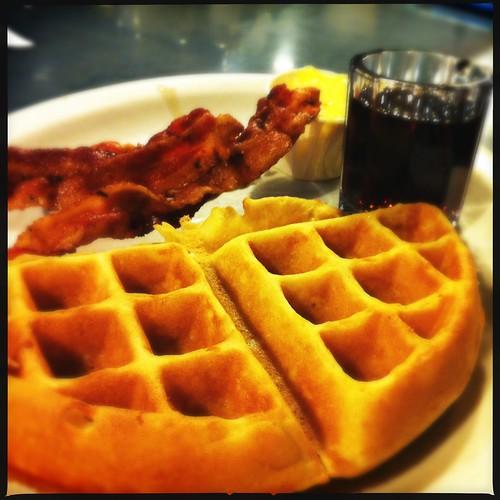 Waffle and bacon, CK's, Memphis, Tenn.