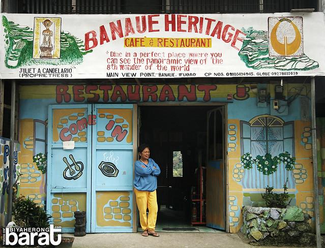 Banaue Heritage Cafe & Restaurant with owner ifugao