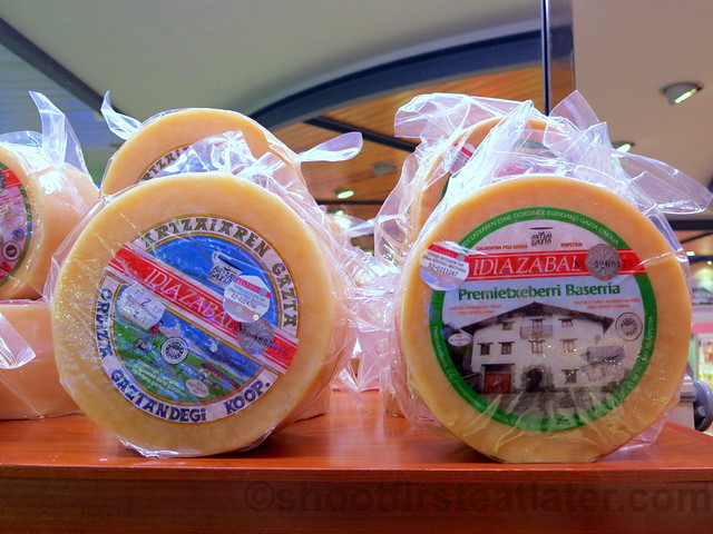 supermarket in San Sebastian- Idiazabal cheese