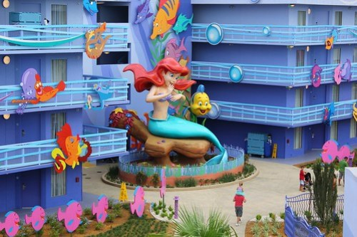 The Little Mermaid wing at Disney's Art of Animation Resort