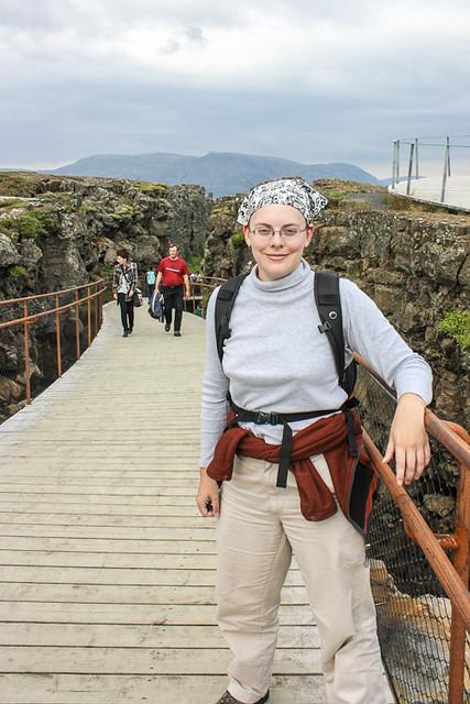 Me at Þingvellir National Park, Iceland