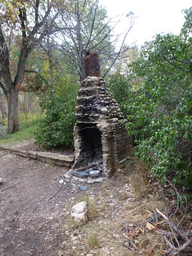 9-26-12 CO - Hewlett Gulch Hike13, Homestead Fireplace