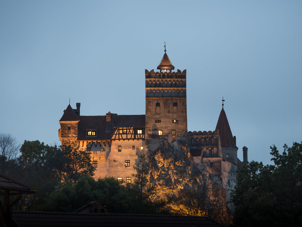 Night at Bran Castle, Romania