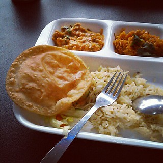Indian vegetarian buffet for lunch