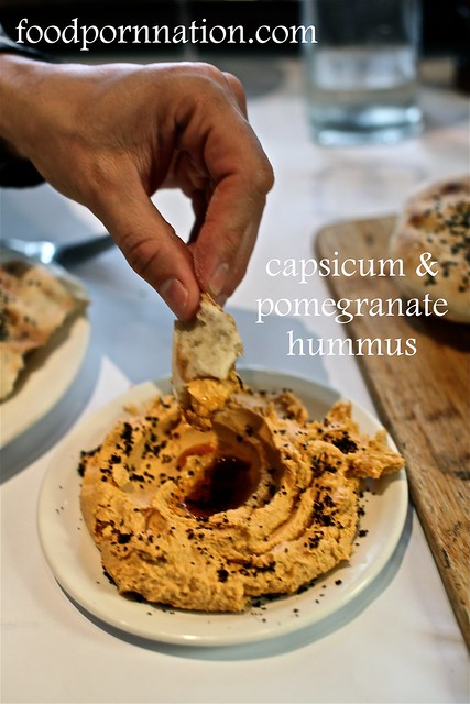 capsicum & pomegranate hummus