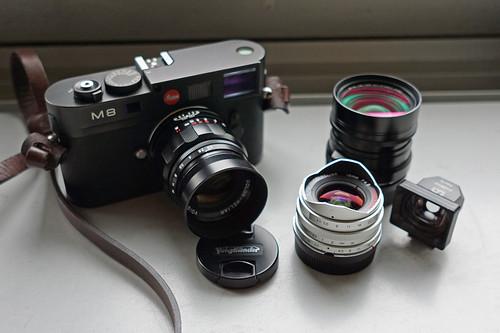 Leica M8 with Voigtländer-Set