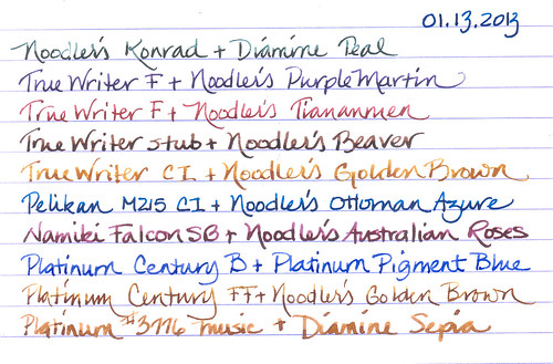 Pen and Ink Rotation for January, 2013