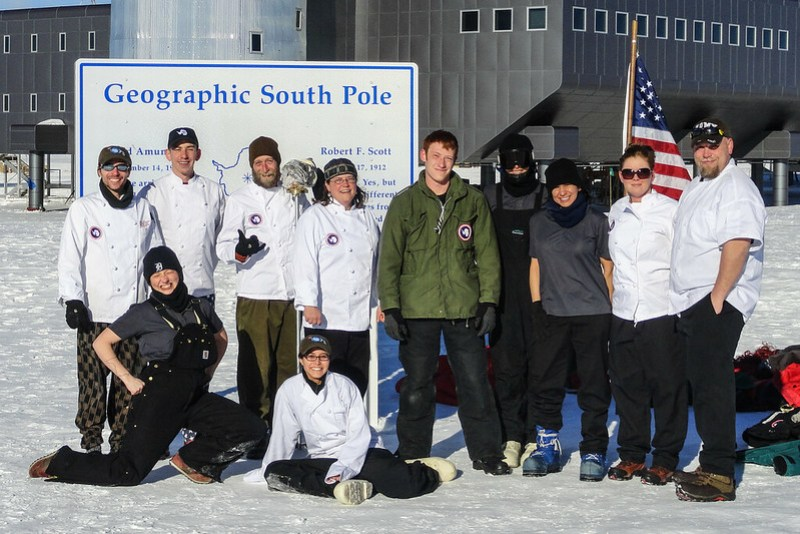 Amundsen-Scott South Pole Station Antarctica Galley Crew Summer 2012-2013 - Serious Version