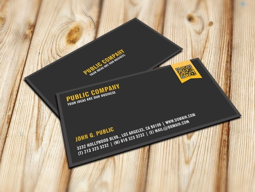 Elegant Corporate QR Code Business Cards