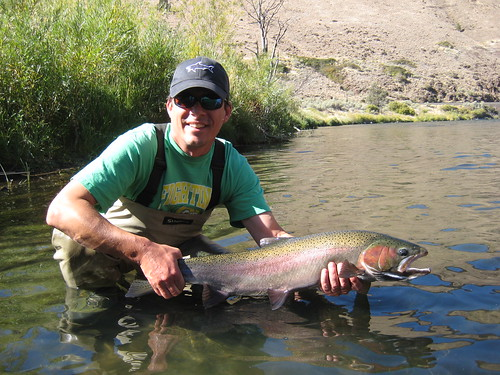 Alex Richardson with Wild Deschutes River Steelhead