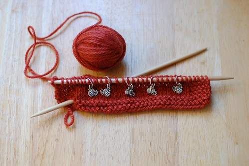 Pumpkin Patch Stitch Markers for Knitters
