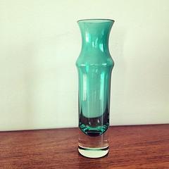Vintage glass vase.
