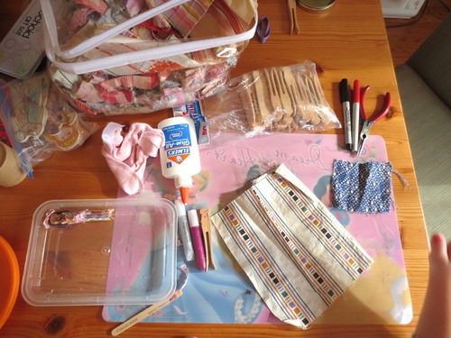 Clothespin doll-making supplies