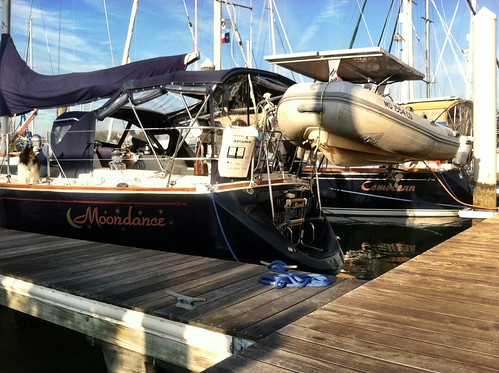 Our boat neighbor--the faux Comocean