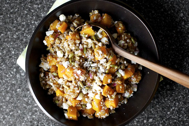 farro, butternut, pepitas, ricotta salata