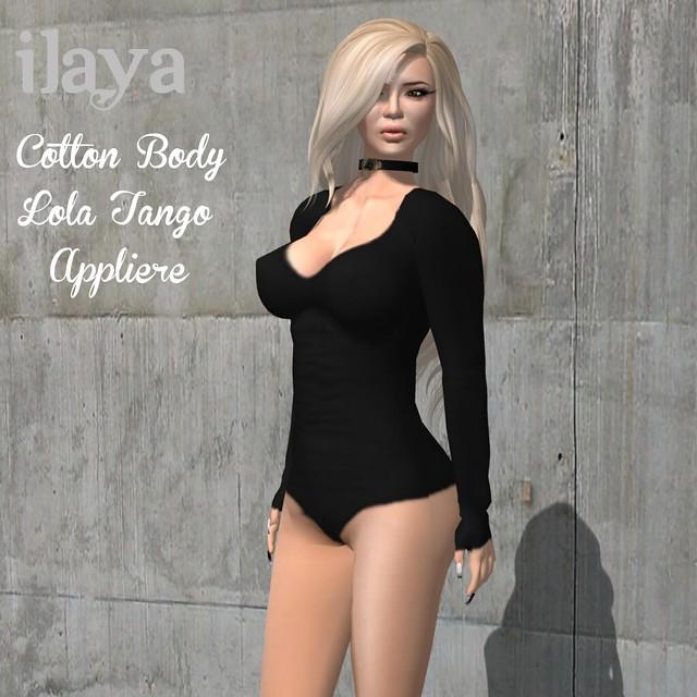 ILAYA Cotton Body with Lola Tango Applier Black