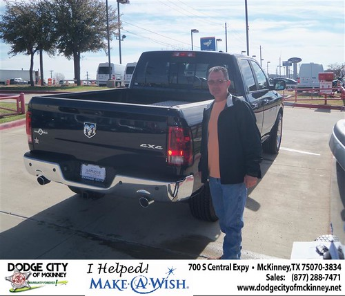 Congratulations to Greg Savant on the 2012 Dodge 1500QC by Dodge City McKinney Texas