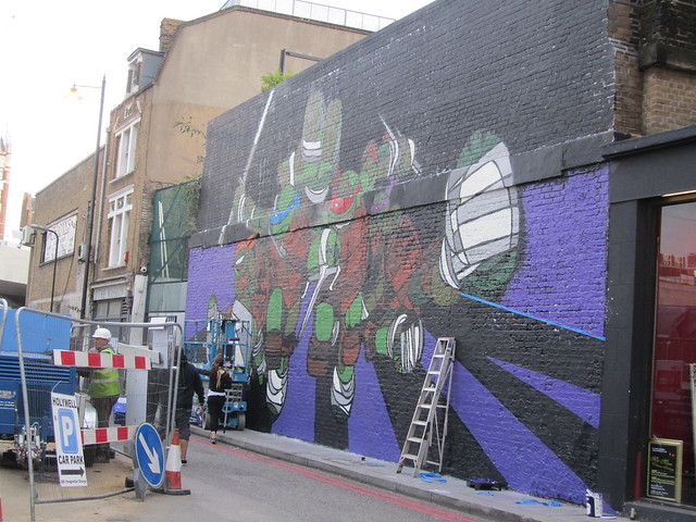 Teenage Mutant Ninja Turtles mural, Village Underground