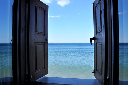 Molyvos - Open Hotelroom Window