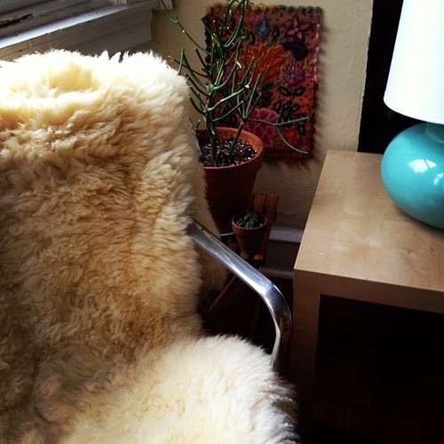 Sheepskin from Rhinebeck NY in it's new home!