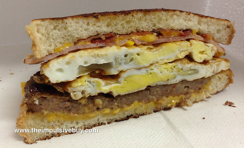 Jack in the Box Loaded Breakfast Sandwich Innards