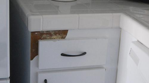 Kitchen cabinet damage