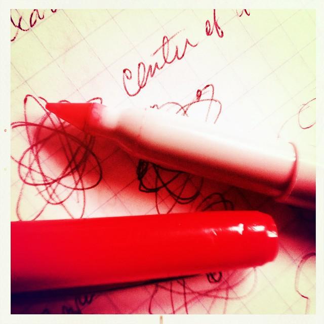 red sharpie