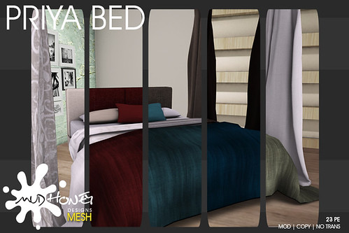 mudhoney priya bed colors