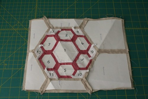 English Paper Piecing Mug Rug