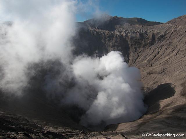 Inside Mount Bromo's crater