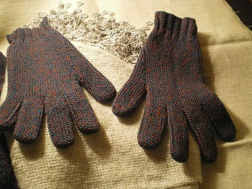 Tricot facile et rapide - Gants au point mousse et à 2 aiguilles  (1/3)