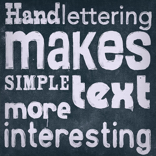 Hand lettering makes simple text more interesting - by T. Mayer | Monkey Crisis On Mars