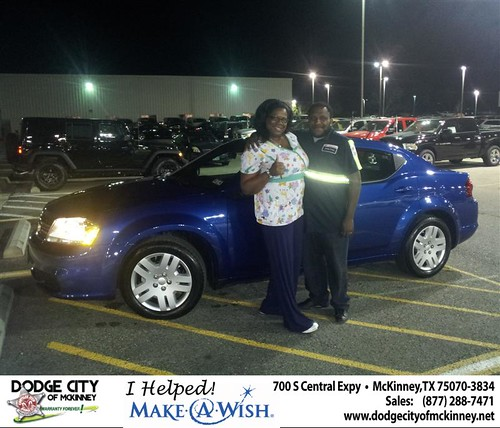 Congratulations to Latashia Smith on the 2013 Dodge Avenger by Dodge City McKinney Texas
