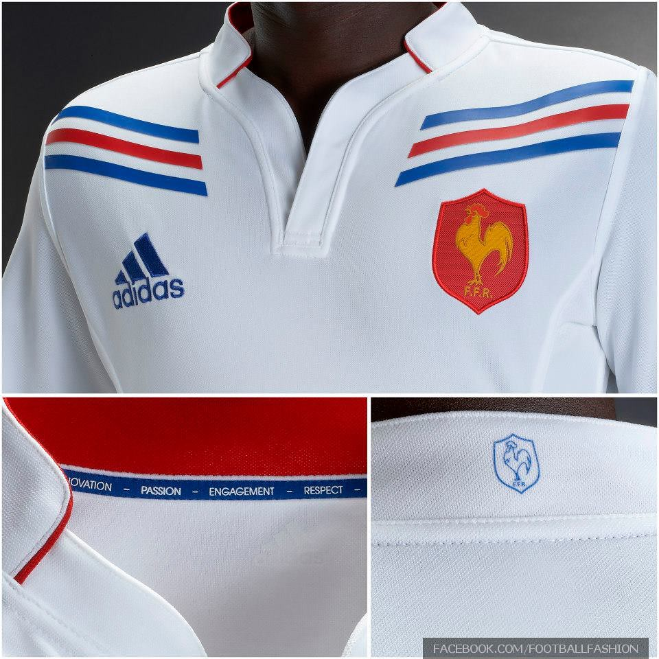 Adidas Rugby Home: France Adidas 2012/13 Rugby Alternate Jersey
