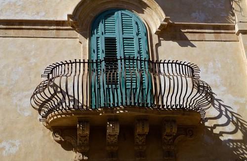 Baroque balcony, Sicily, Italy