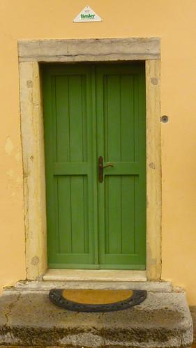 a green door