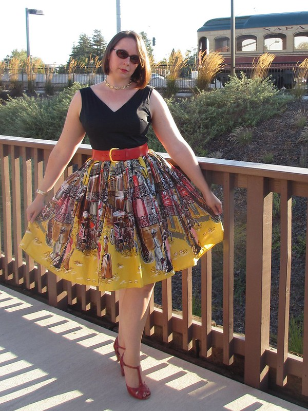 Wearing my namesake 'Can't Hardly Kate Dress'. (Photo by Pat Zimmerman.)