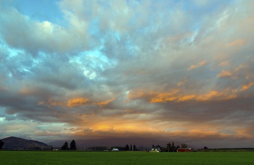 Skagit Valley Sunset Sunset Oct. 16th by i8seattle