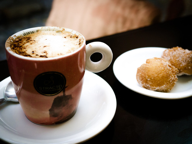 Cappuccino and puffs