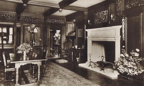 Greatford Hall Lincs REVIVALHERITAGE restored dining room post 1922