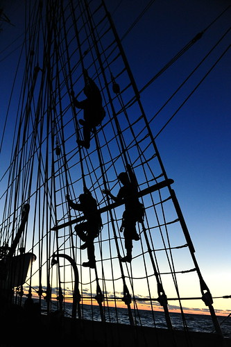 Officer Candidates Aboard Barque Eagle by U.S. Coast Guard