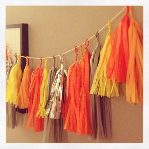 Working on a fun tassel garland!