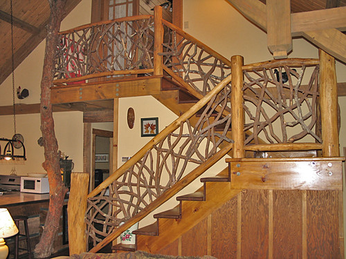 Decoracion y dise o de escaleras rusticas blogicasa for Escaleras interiores casas rusticas