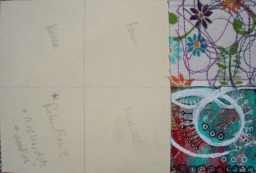 Millenium Mail Art Swap 2013: Circles, dots and doodles